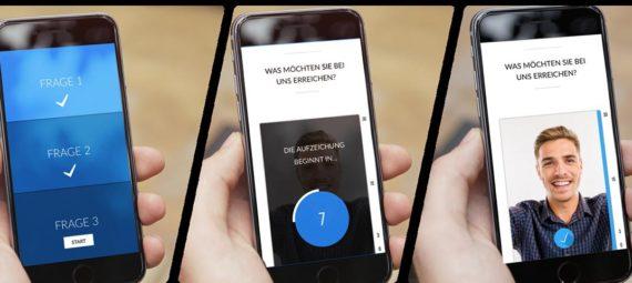 Talentcube-Bewerbung-per-smartphone